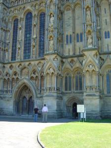 Wells Catedral. Wells er Englands minste city, med bare litt over 11.000 innbyggere. Men de har en av de aller fineste katedralene.