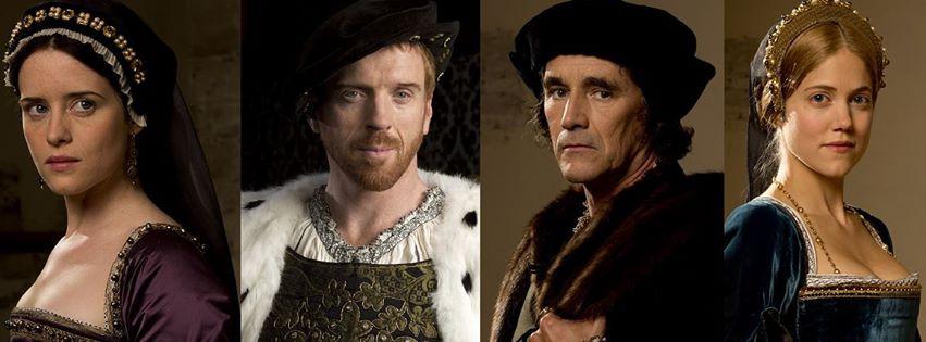 Anne Boleyn (Claire Foy), Henrik 8 (Damian Lewis), Thomas Cromwell (Mark Rylance) og Jane Seymour (Kate Phillips)